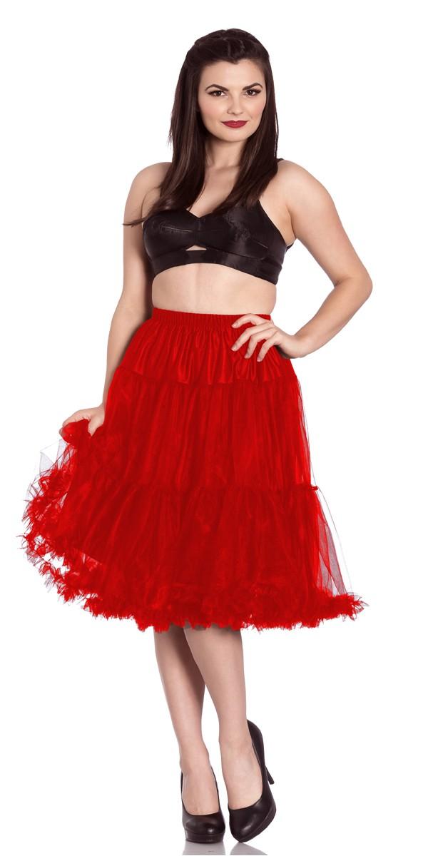 Polly Petticoat - Rot - 65cm Lang