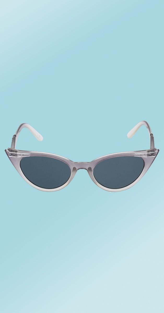 Vintage 50er Accessoires - Betty Sonnenbrille - Grau