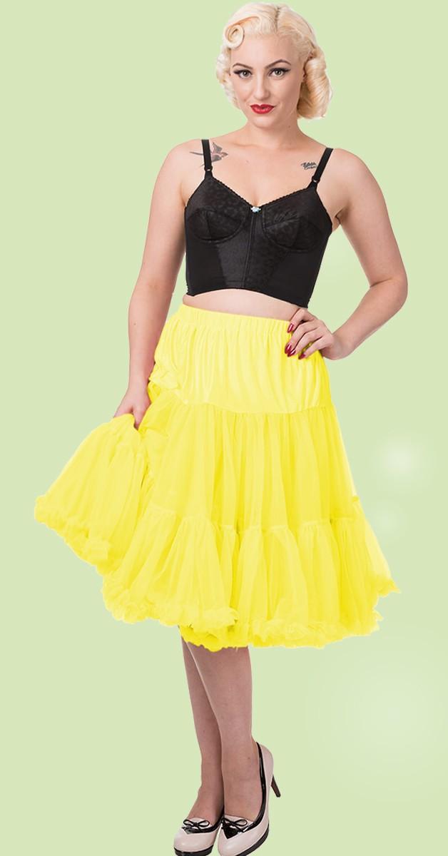50s Style Swing Rockabilly Dance Petticoat - Gelb