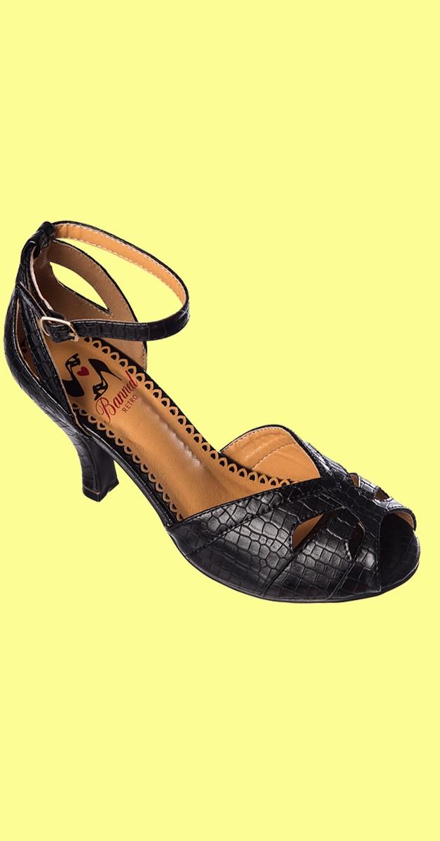 Retro Schuhe - Indiscreet - Schwarz