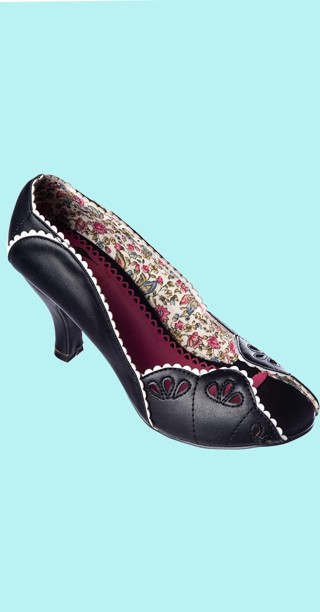 Retro Schuhe - Ruby Woo Pumps - Schwarz
