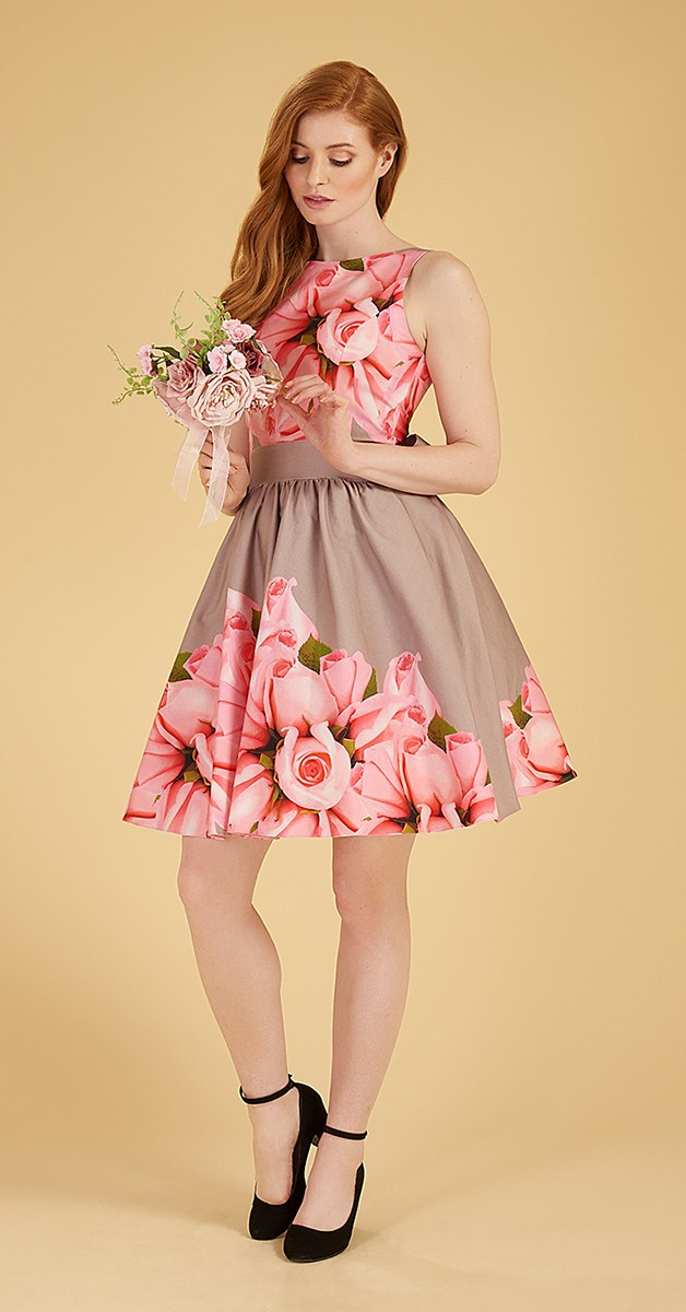Vintage 50's Swing Kleid - Rose Tea Dress