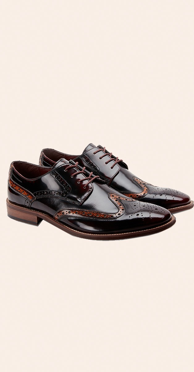 Vintage Stil Schuhe - High Shine Dapper Brogues