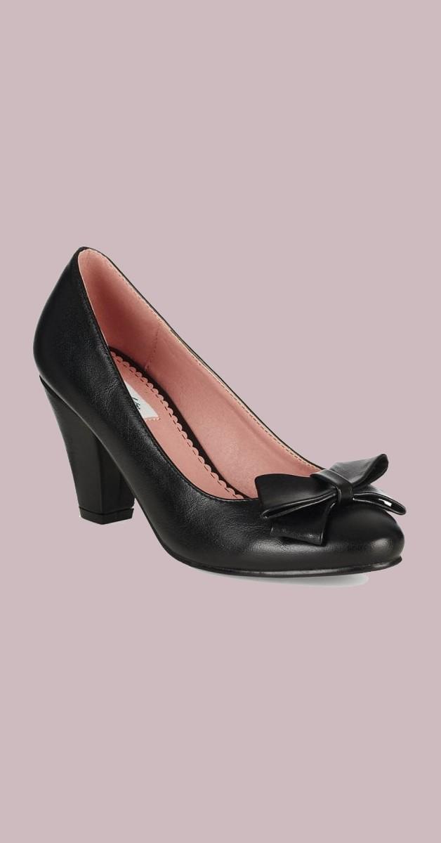 Vintage Stil Schuhe - Tracey High Heel - Schwarz