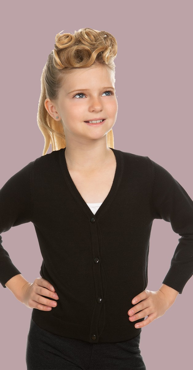 50s Kinderkleidung - Cardigan - Schwarz