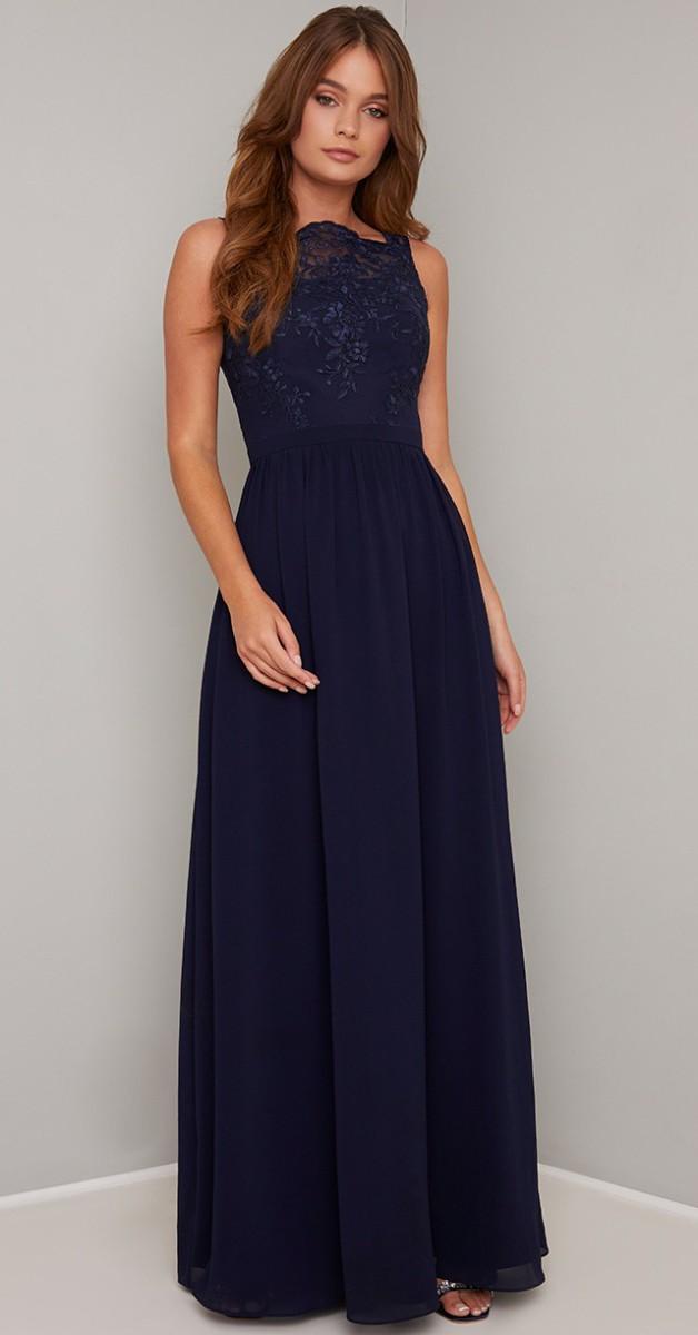 Vintage Stil Kleid - Agata - Navy