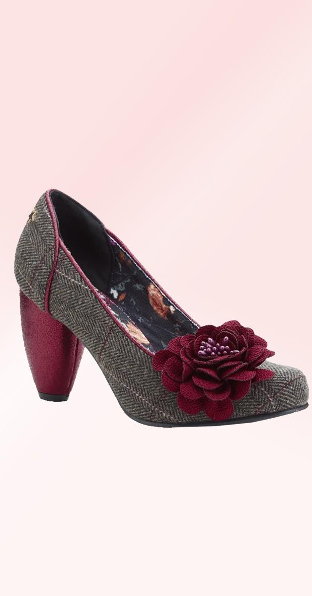 Vintage Stil Schuhe -Truly - Braun
