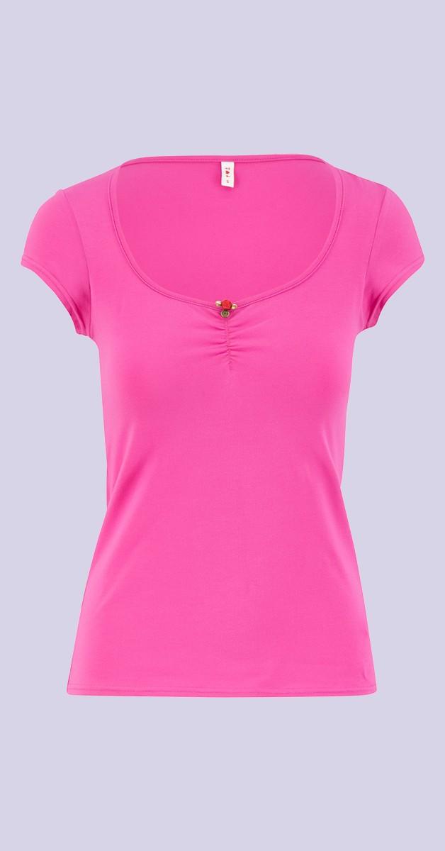 Vintage Stil Bekleidung - Logo Shortsleeve Feminine - Pink