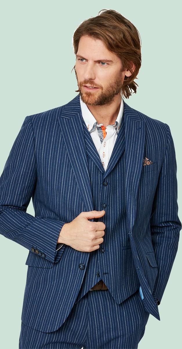 Vintage Bekleidung - Sakko - Superb Stripe Blazer - Blau Gestreift