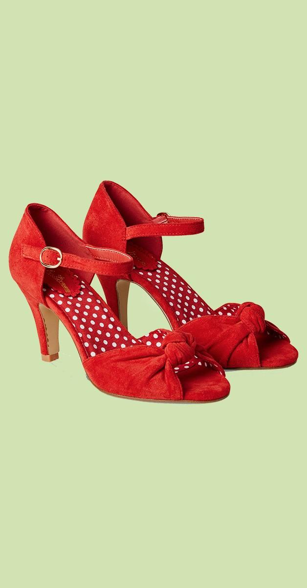 Vintage Stil Schuhe - Oh Miss Scarlet Shoes - Rot