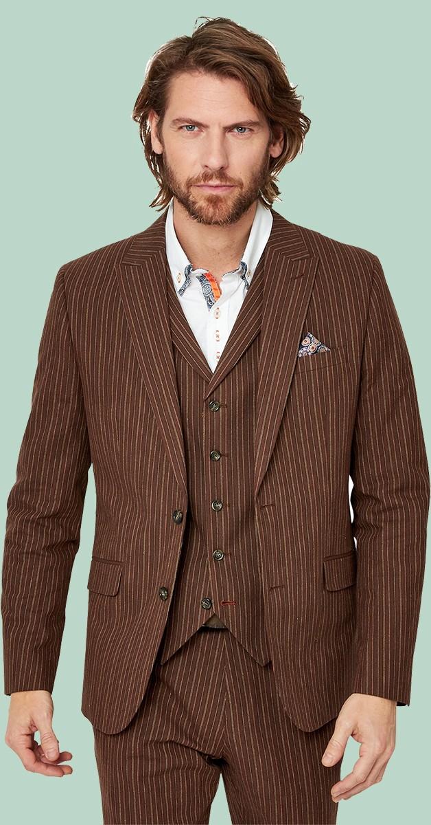 Vintage Bekleidung - Sakko - Sensational Stripe Blazer - Braun Gestreift