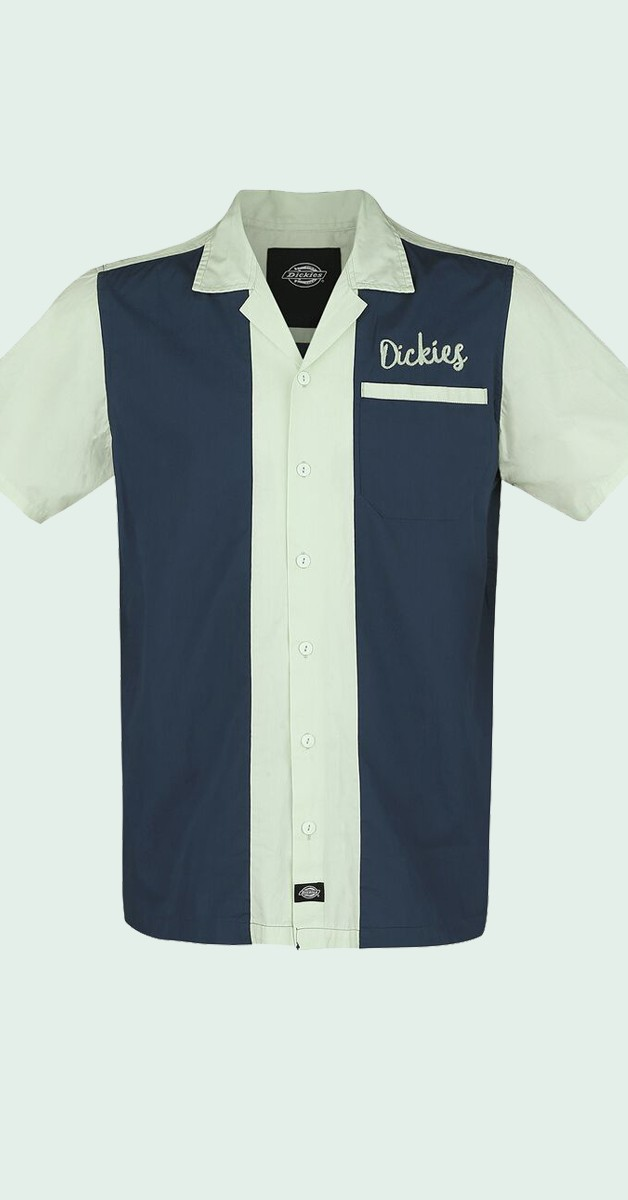 Dickies Hemd - Rockabilly Mode - Pulaski Short Sleeve Revere Shirt - Navy