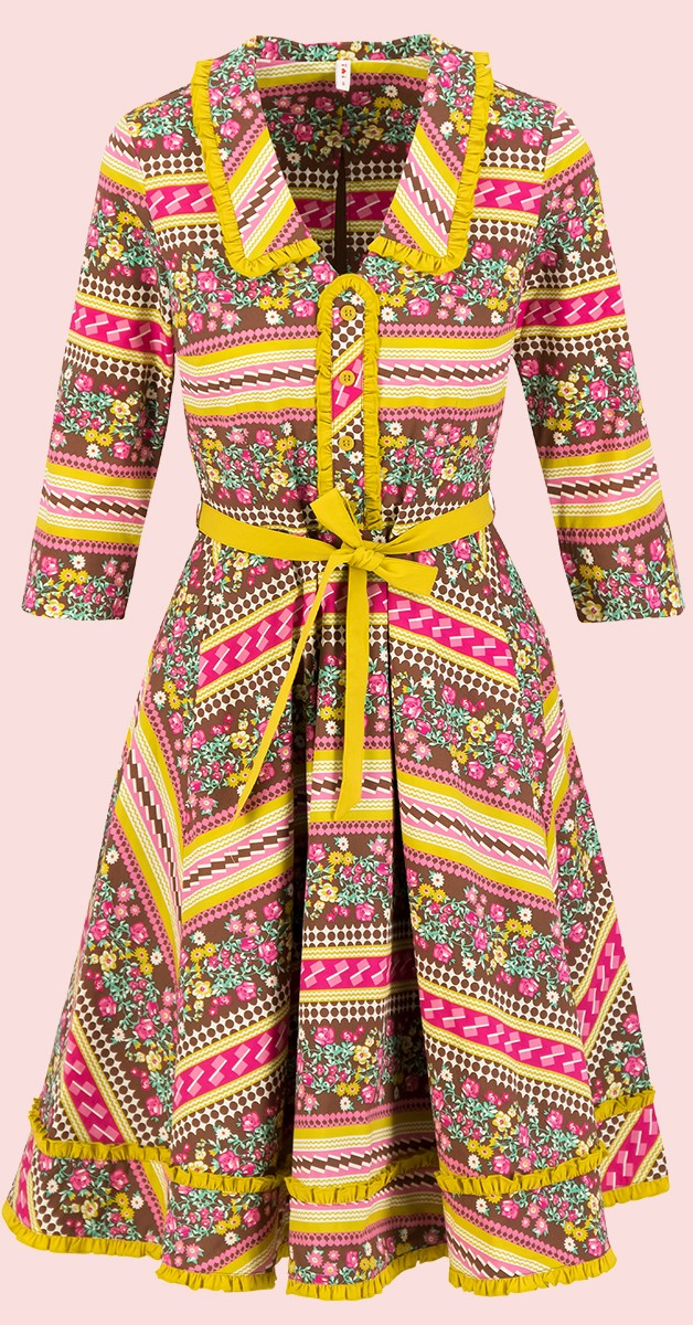 Vintage Stil Mode - hello mary rose robe-Garden Glory - Kleid