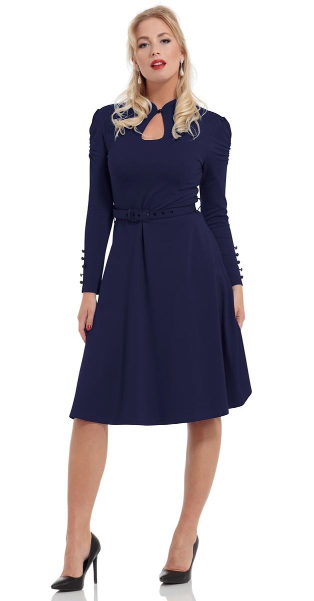 Vintage Stil Swing Kleid - Dita- Navy
