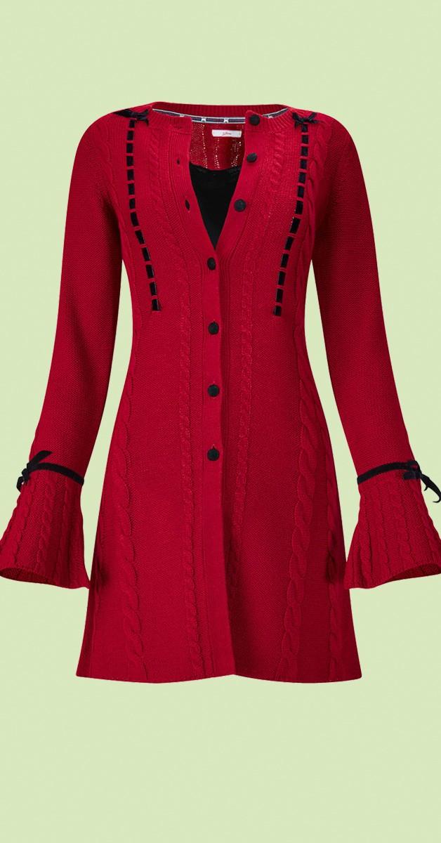 Vintage  Bekleidung Weste - Velvet Button Cardigan