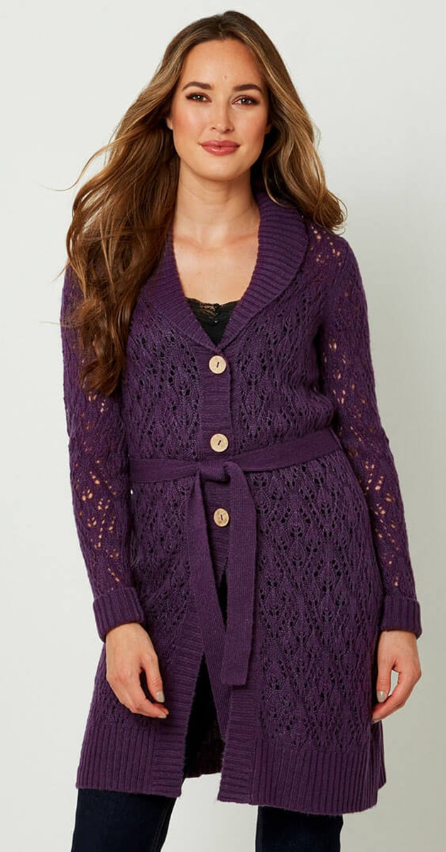 Vintage  Bekleidung Weste - Bursting Berry Cardigan
